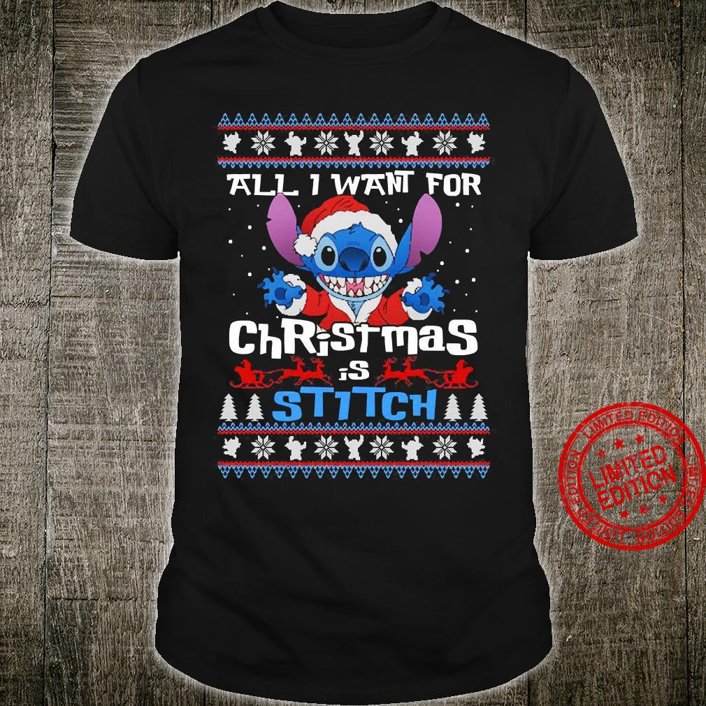 All I Want For Christmas Is Stitch Shirt unisex
